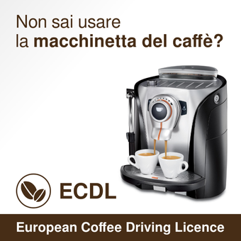 Support the ECDL: European Coffee Driving License. The flyer.